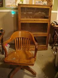sale antique oak leather swivel office chair by thevintagebarn antique oak office chair