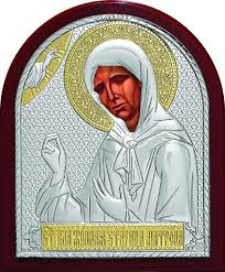 <b>Серебряная икона святой блаженной</b> праведной Матроны ...