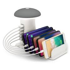 Intelligent Fast Charge QC3.0 Charging Holder 5-port USB Phone ...