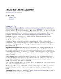 claims adjuster cover letter template claims adjuster cover letter