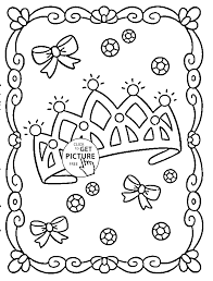 Small Picture Princess Crown coloring page for girls for kids coloring pages