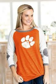 """Clemson Tigers """"Sunday Funday"""" Funnel Neck Knit Top - Gameday ..."""
