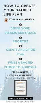 how to create your sacred life plan hello peaceful mind sara christensen will show you how to create your very own sacred life plan you