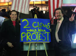 occupy wall street what just happened org the authors an occupy broadway protest sign