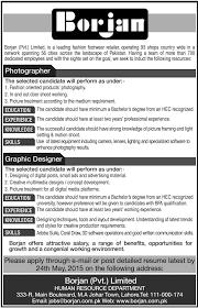 photographer graphic designer job in borjan pvt