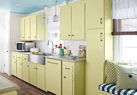 log cabin cabinets yellow lamp decor top modern kitchen cabinet remodel ideas with soft yellow colors with