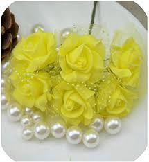 <b>72Pcs</b>/<b>lot</b> 3cm Head Artificial <b>PE</b> Pentagon Flowers Lace <b>Rose</b> ...