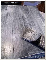 recaptured charm beachy entry tables whitewash over dark black or navy paint basics whitewash