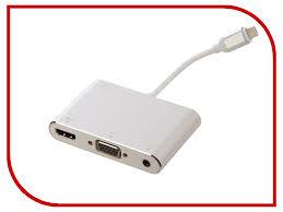 <b>Аксессуар Palmexx Lightning</b> - HDMI - VGA - AUX Silver PX/HUB ...