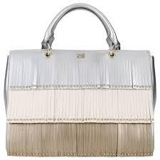 Серебристая женская сумка с декором Cavalli Class <b>Aloha</b> ...