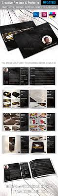 creative resume and portfolio booklet by melissadekker graphicriver creative resume and portfolio booklet resumes stationery