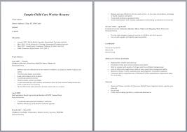 child care worker resumesample childcare resume sample resume resume for childcare