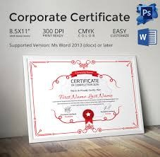 33 psd certificate templates psd format beautiful corporate certificate template