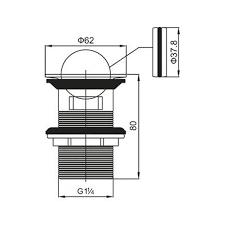 Купить <b>Донный клапан BELBAGNO</b> с переливом BB-PCU-05-CRM ...