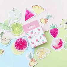 45 шт./упак. мультяшная Милая фруктовая <b>наклейка</b> для DIY ...