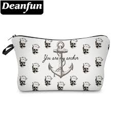 2019 <b>Deanfun</b> Fashion Brand <b>Skull Cosmetic Bags</b> New Fashion 3D ...
