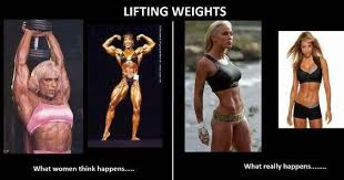 Ladies: Lifting Weights Won't Make You Bulky | Physically Fitx5 ... via Relatably.com