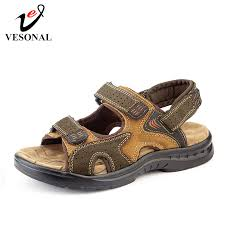 VESONAL 2019 Summer <b>New Genuine Leather</b> Shoes <b>Men</b> ...