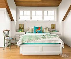 a sharp pencil and a good carpenter can create built ins that maximize every inch of a small master bedroom built ins for example transform this small bhg bedroom ideas master