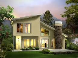 Eureka Berm Home Plan D    House Plans and MoreContemporary Style Two Story House Built Into The Earth