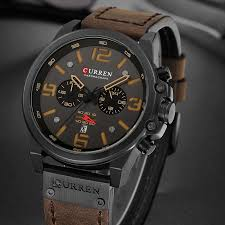 CURREN <b>Men'S</b> Quartz <b>Watch</b> Leather Strap <b>Casual Watch Men'S</b> ...