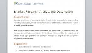 survey sample selector template   demand metricmarket research analyst job description