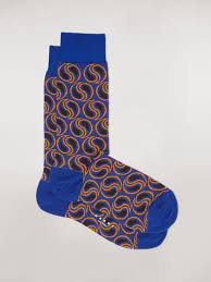 <b>Sock</b> In Blue Paisley Cotton And Polyamide <b>Jacquard</b> from the Marni ...