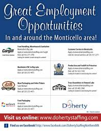 job opportunities in and around monticello minnesota doherty job opportunities in and around monticello minnesota food production customer service machinists
