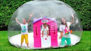 Vlad and Nikita build Inflatable <b>Playhouse</b> for <b>children</b> - YouTube