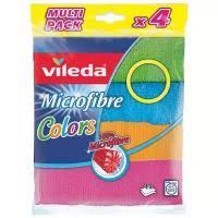 <b>Vileda colors салфетка</b> универсальная из микрофибры 4шт ...