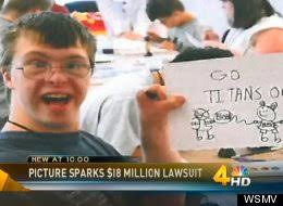Adam Holland lawsuit. This original photo of Adam Holland, a man with Down syndrome, spawned a disparaging Internet meme. (Photo via WSMV-TV) - s-ADAM-HOLLAND-LAWSUIT-large