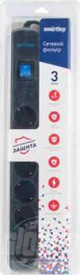 <b>Сетевой фильтр SmartBuy</b> SBSP-30K-Pro, 3 м — купить в Москве ...