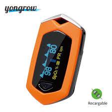 yongrow medical sport finger pulse oximeter portable