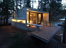 The Unique Counter Trend  Small Concrete Block Homes Architecture    Concrete House Design Small Concrete Block Homes In Modern Contemporary House Design Uwing Open Floor Plan Interior Design For Modern House Glass And
