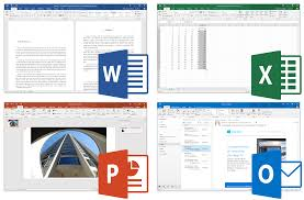 office linux workgroup microsoft office 2016 word excel power point and outlook
