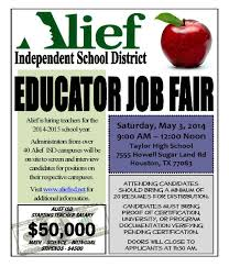 jobs department of teaching and learning blog jf aisd job fair flyer hr webpage page 1