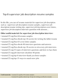 topsupervisorjobdescriptionresumesamples conversion gate thumbnail jpg cb