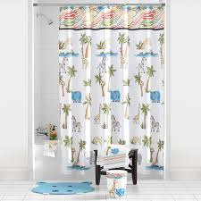 large size design black goldfish bath accessories: saturday knight animal safari shower curtain and bath accessories collection