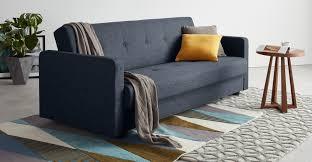 Chou Click Clack <b>Sofa Bed with</b> Storage, Quartz Blue | MADE.com