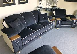 view in gallery art deco seating in blue art deco era furniture