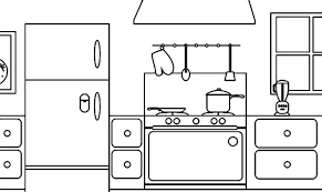 Small Picture coloring page parts of a house kitchen Download Print Online