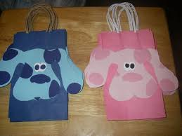 <b>10 PC</b> Blues Clues Magenta Goody Gift Bags <b>Party Favors</b> Candy ...