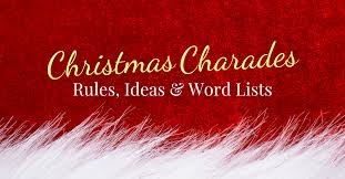 Christmas Charades: Rules, Ideas, and Word Lists - White Elephant ...