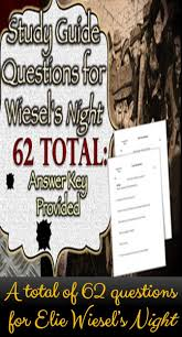 17 best images about night night by elie wiesel elie wiesel s night study guide questions answers