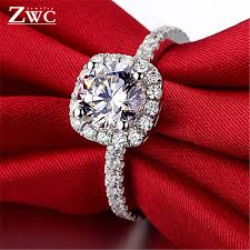 ZWC <b>Fashion</b> Crystal Engagement Claws Design <b>Hot Sale</b> Rings ...