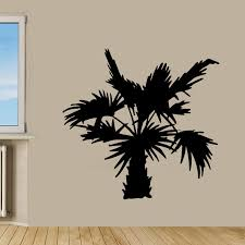 palm tree wall stickers: palm tree removable vinyl wall decal sticker palms waterproof wall stickers for bath room decor