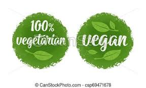<b>100 vegetarian</b> lettering with leaf. vector vintage green circle sticker ...