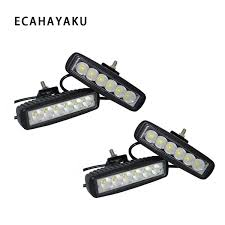 <b>ECAHAYAKU 4Pcs 6 inch 18W</b> LED work Light Bar 12V-80V ...