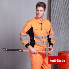 <b>Reflective Stitching Color Workwear</b> Jacket and Trousers Work Set ...