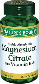 <b>Natures Bounty Цитрат Магния</b> с витамином В-6, таблетки, 60 шт ...